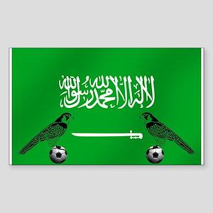 Saudi Arabia Football Flag Sticker (Rectangle)