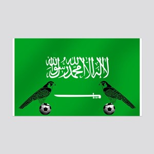 Saudi Arabia Football Flag 35x21 Wall Decal