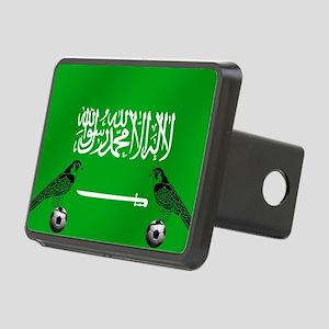 Saudi Arabia Football Flag Rectangular Hitch Cover