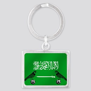 Saudi Arabia Football Flag Landscape Keychain
