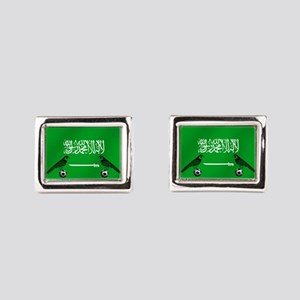 Saudi Arabia Football Flag Rectangular Cufflinks