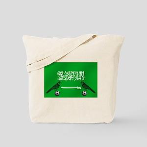 Saudi Arabia Football Flag Tote Bag