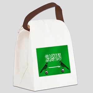 Saudi Arabia Football Flag Canvas Lunch Bag