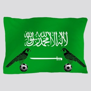 Saudi Arabia Football Flag Pillow Case