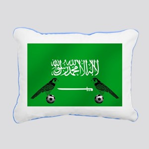 Saudi Arabia Football Fl Rectangular Canvas Pillow