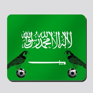 Saudi Arabia Football Flag Mousepad