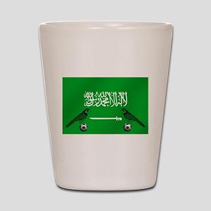 Saudi Arabia Football Flag Shot Glass