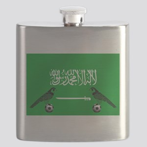 Saudi Arabia Football Flag Flask
