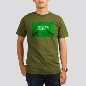 Saudi Arabia Football Organic Men's T-Shirt (dark)