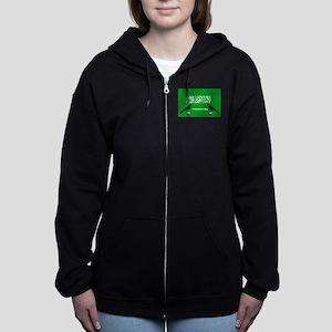 Saudi Arabia Football Flag Women's Zip Hoodie