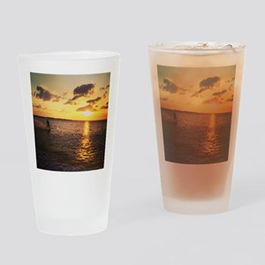 Wakeboarding in Sunset Drinking Glass