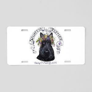 Summer Scottish Terrier Aluminum License Plate