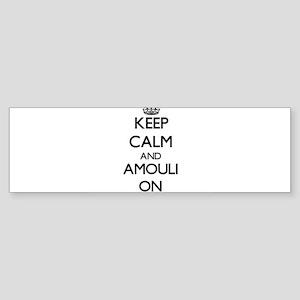 Keep calm and Amouli Samoa ON Bumper Sticker