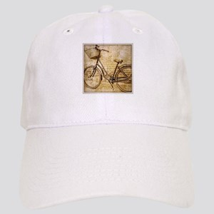 romantic street vintage bike Cap