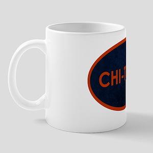 CHI TOWN Blue Stone Mug
