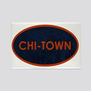CHI TOWN Blue Stone Rectangle Magnet