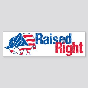 Raised Right Sticker (Bumper)