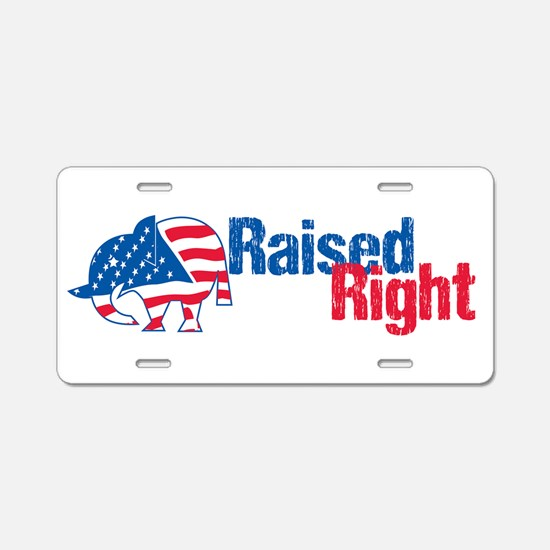 Raised Right Aluminum License Plate