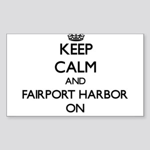 Keep calm and Fairport Harbor Ohio ON Sticker