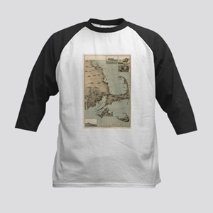 Vintage Map of Cape Cod (1885) Baseball Jersey