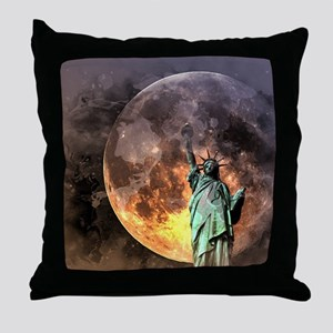 Liberty at moonlight Throw Pillow