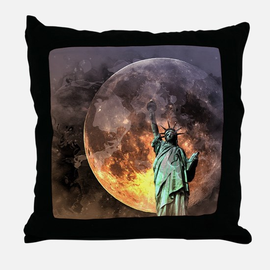 Liberty at moonlight Throw Pillow