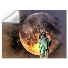 Liberty at moonlight Wall Decal