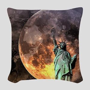 Liberty at moonlight Woven Throw Pillow