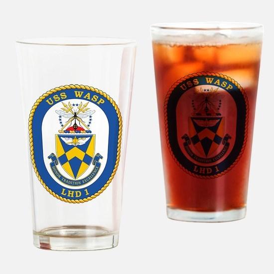 USS Wasp LHD-1 Drinking Glass