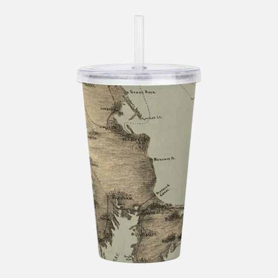 Vintage Map of Cape Co Acrylic Double-wall Tumbler
