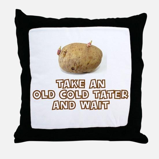 Funny Tater Throw Pillow