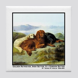 GOLDEN RETRIEVER, IRISH & GORDON Tile Coaster