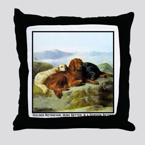 GOLDEN RETRIEVER, IRISH & GORDON Throw Pillow