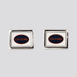 CHI TOWN Blue Stone Rectangular Cufflinks