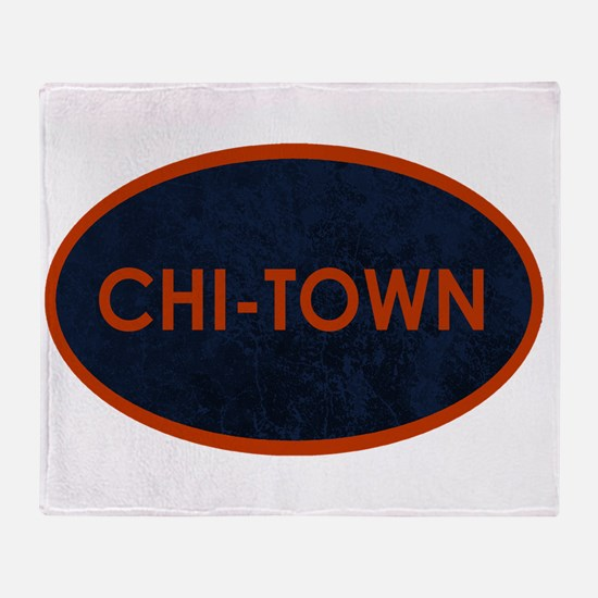 CHI TOWN Blue Stone Throw Blanket