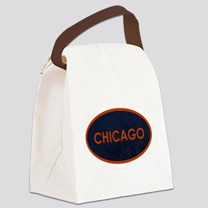 Chicago Orange Blue Stone Canvas Lunch Bag