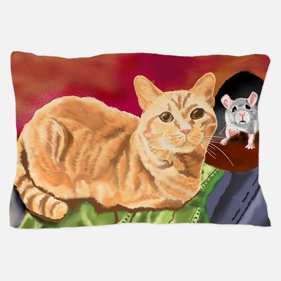 Orange tabby Pillow Case