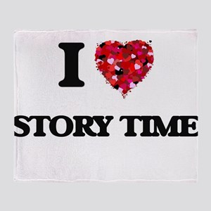 I love Story Time Throw Blanket