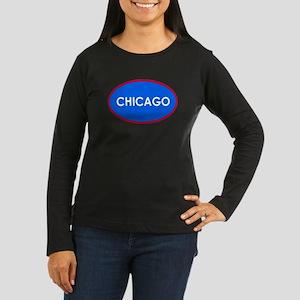Chicago Light Blue Simple Long Sleeve T-Shirt