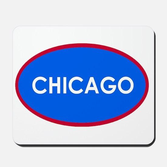 Chicago Light Blue Simple Mousepad