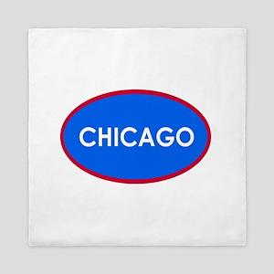 Chicago Light Blue Simple Queen Duvet