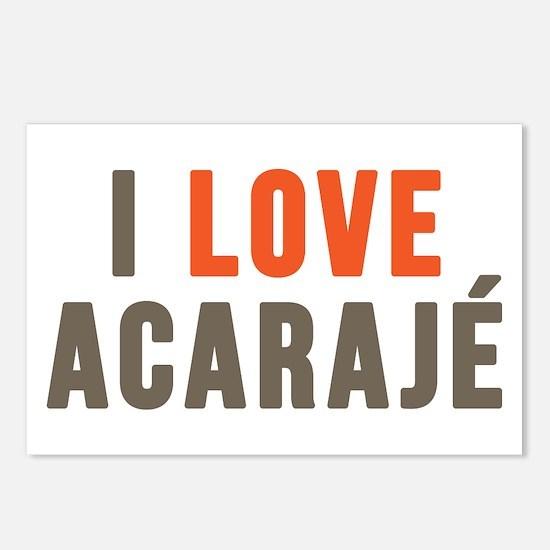 I LOVE ACARAJÉ Postcards (Package of 8)