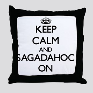 Keep calm and Sagadahoc Maine ON Throw Pillow
