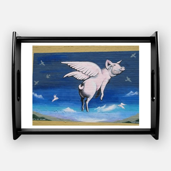 Flying Pigs Coffee Tray