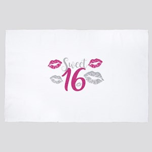 Pink Sweet Sixteen Kisses 4' x 6' Rug
