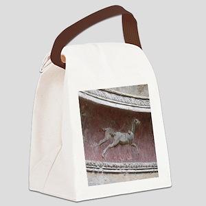 Pompeii Bath Detail Canvas Lunch Bag
