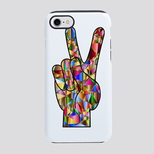 Chromatic Rainbow Peace Hand iPhone 8/7 Tough Case