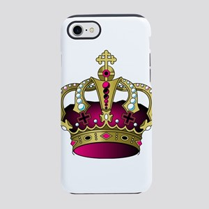 Pink & Gold Crown iPhone 8/7 Tough Case