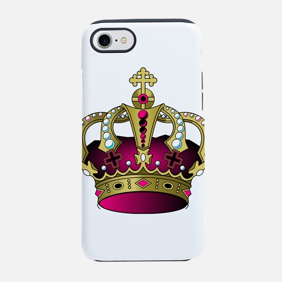 Pink & Gold Crown iPhone 8/7 Tough Case