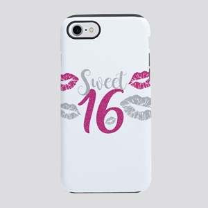 Pink Sweet Sixteen Kisses iPhone 8/7 Tough Case